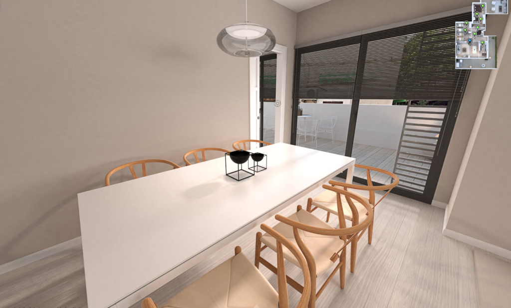 dining room of the apartment