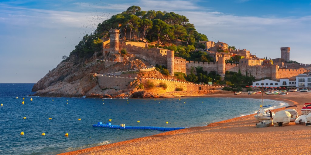 One of the best beaches in Costa Brava, Barcelona.