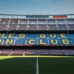 The new kit of Barcelona FC. Barça Stadium Camp Nou.